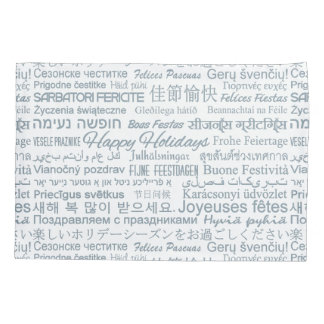 """Multilingual """"Happy Holidays"""" pillowcases"""