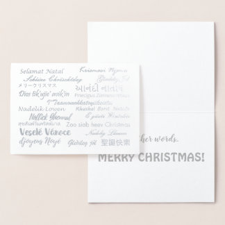 Multilingual Merry Christmas Languages Foil Foil Card