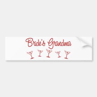 MultiMartini-BridesGrandma-Red Bumper Sticker