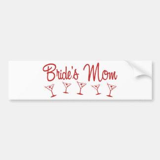 MultiMartini-BridesMom-Red Bumper Sticker