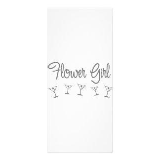 MultiMartini-FlowerGirl-grey Custom Rack Card