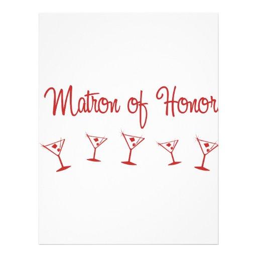 MultiMartini-MatronHonor-Red Personalized Flyer
