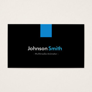 Multimedia Animator Modern Aqua Blue Business Card