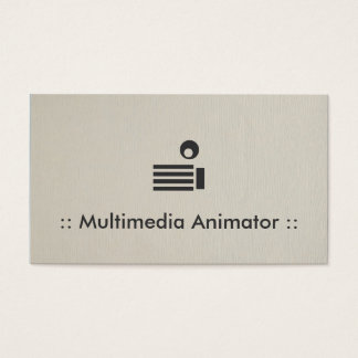 Multimedia Animator Simple Elegant Professional Business Card