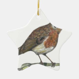 Multimedia Robin Ceramic Star Ornament