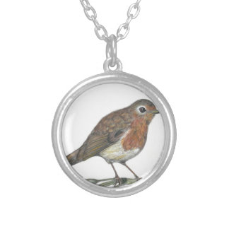 Multimedia Robin Silver Plated Necklace