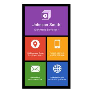 Multimedia Studio - Colorful Tiles Creative Business Card