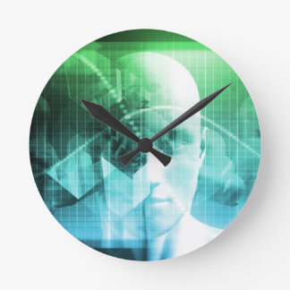 Multimedia Technology Digital Devices Information Round Clock