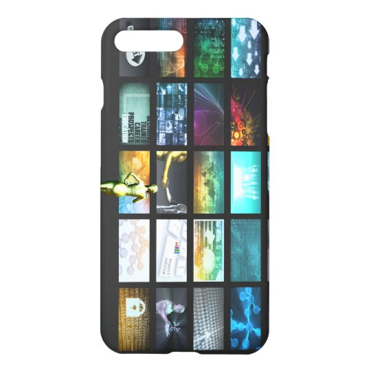 Multimedia Technology with Woman Staring at Screen iPhone 8 Plus/7 Plus Case