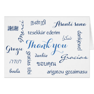 Multinational Thank You Card