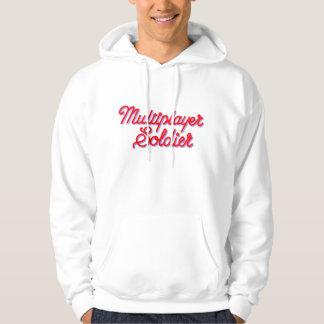Multiplayer Soldier white hooded sweatshirt