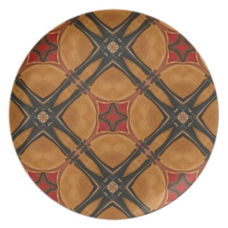 Multiple Abstract Designed Products Plates