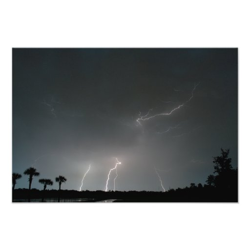 Multiple Bolts Photographic Print