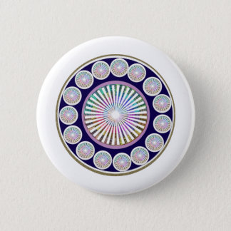 Multiple CHAKRA  -  Sparkle n Live Mandala 2 Inch Round Button