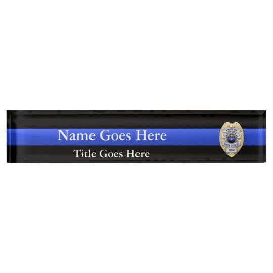 Multiple Choice Chief of Police 1-Star Badges Desk Nameplate