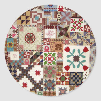 Multiple Choice Quilt Classic Round Sticker