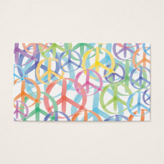 Multiple Colors of Peace Symbols Business Card