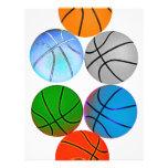 Multiple Coloured Basketballs Full Color Flyer