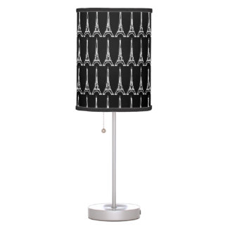 multiple Eiffel towers black white Table Lamp
