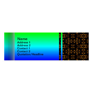Multiple Flames Grid Double-Sided Mini Business Cards (Pack Of 20)