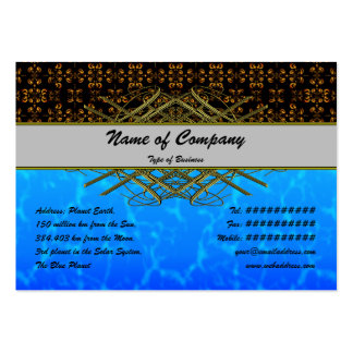 Multiple Flames Grid Large Business Cards (Pack Of 100)