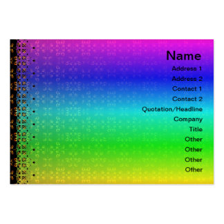 Multiple Flames Grid Business Card Template