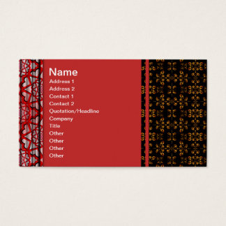Multiple Flames Grid Business Card