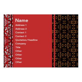 Multiple Flames Grid Business Cards