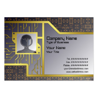 Multiple Flames Grid Pack Of Chubby Business Cards