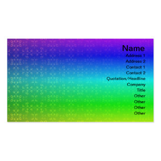Multiple Flames Grid Pack Of Standard Business Cards