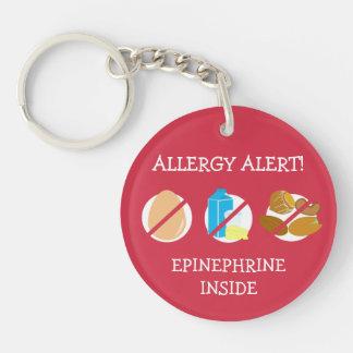 Multiple Food Allergy Alert Keychain