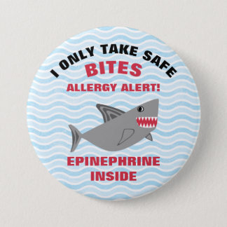 Multiple Food Allergy Alert Shark Button