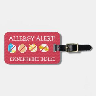 Multiple Food Allergy Alert Tag for Medical Kit Bag Tags