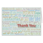 Multiple Language Thank You Card