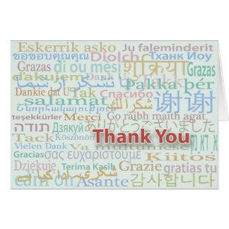 Multiple Language Thank You Card
