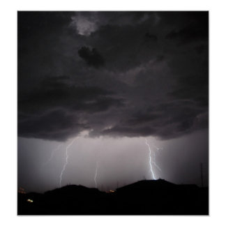 Multiple Lightning Strikes Poster