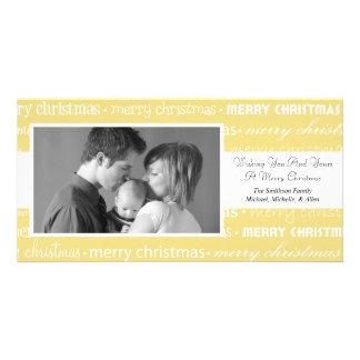 Multiple Merry Christmas Photocards (Gold) Photo Card Template