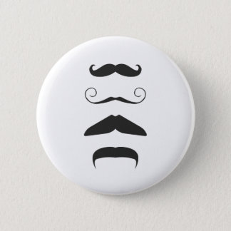Multiple Moustache 2 Inch Round Button