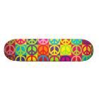 Multiple Multicolor Peace Skateboard Deck