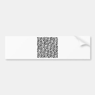 Multiple Mustache Variations Pattern Bumper Sticker