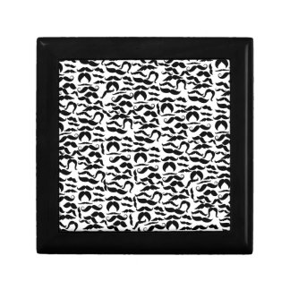 Multiple Mustache Variations Pattern Gift Box