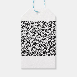 Multiple Mustache Variations Pattern Gift Tags
