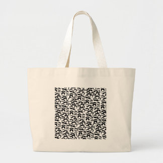 Multiple Mustache Variations Pattern Large Tote Bag