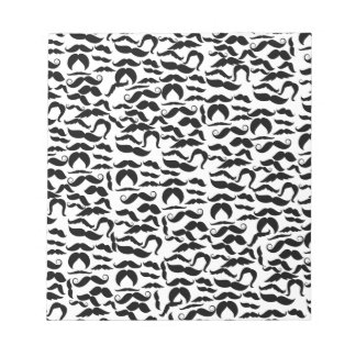 Multiple Mustache Variations Pattern Notepad