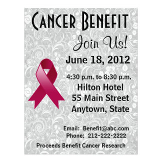 Multiple Myeloma Awareness Benefit  Floral Flyer