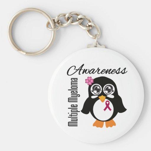 Multiple Myeloma Awareness Penguin Key Chains