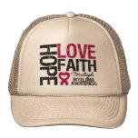 Multiple Myeloma Hope Love Faith Mesh Hat