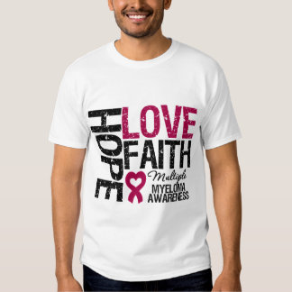 Multiple Myeloma Hope Love Faith Tshirt