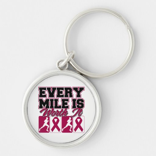 Multiple Myeloma Mens Every Mile is Worth It Key Chain