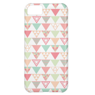 Multiple Pastel Triangles Pattern Case For iPhone 5C